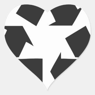 recycle black.jpg heart sticker