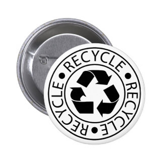 Recycle Black Logo Buttons