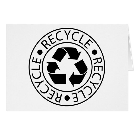 Recycle Black Logo Cards