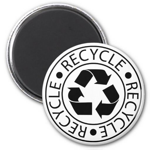 Recycle Black Logo Fridge Magnet