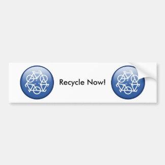 recycle-blue bumper sticker