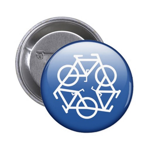 recycle blue button by Petr Kratochvil
