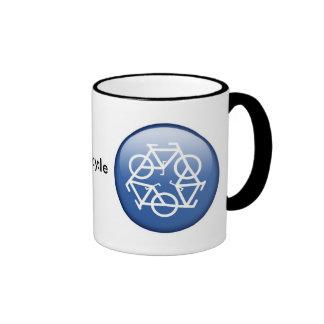 recycle-blue ringer mug