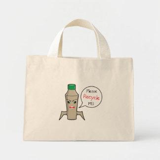 Recycle Bottles Mini Tote Bag