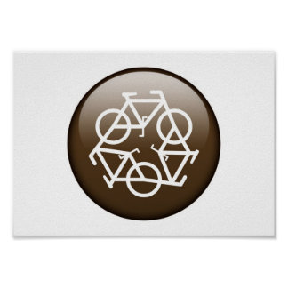 recycle brown by Petr Kratochvil poster
