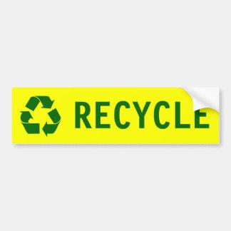 recycle bumper sticker