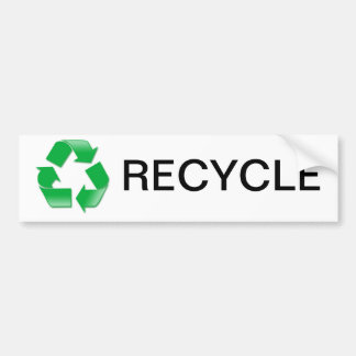 Recycle Bumpersticker Bumper Sticker