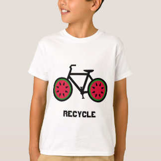 Recycle bycycle kids tshirt