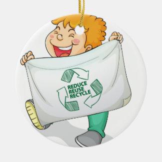 Recycle Ceramic Ornament