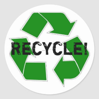 Recycle! Classic Round Sticker