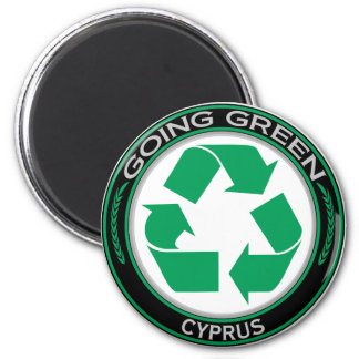 Recycle Cyprus 6 Cm Round Magnet