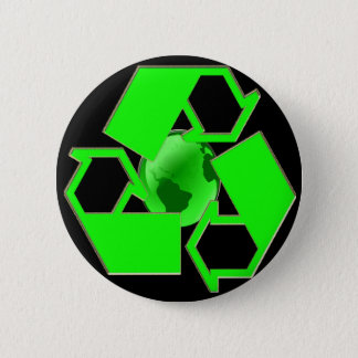 Recycle Earth 2- Save the Earth- Go Green 6 Cm Round Badge