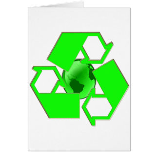 Recycle Earth 2- Save the Earth- Go Green Greeting Card