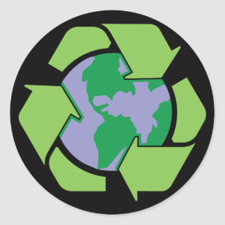 Recycle Earth Classic Round Sticker