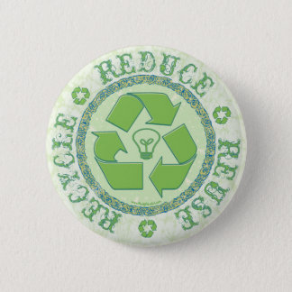 Recycle Earth Day Gear 6 Cm Round Badge