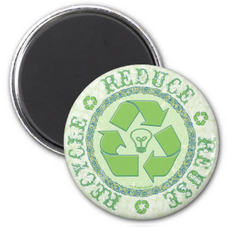 Recycle Earth Day Gear Fridge Magnets