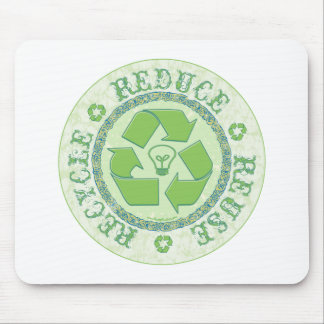 Recycle Earth Day Gear Mouse Pad