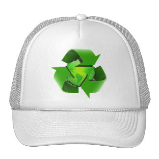 Recycle Earth-Go Green-Save the Earth Hats
