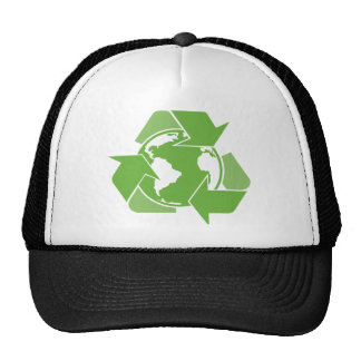 Recycle Earth Green Mesh Hat