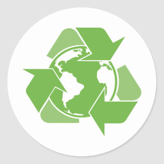 Recycle Earth Green Stickers