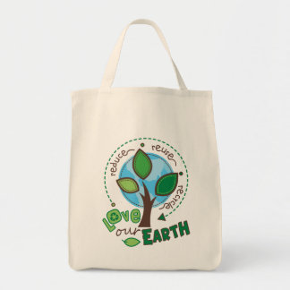 Recycle Earth Grocery Tote