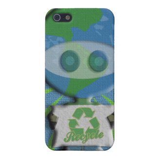 Recycle Earth Guy  Case For The iPhone 5