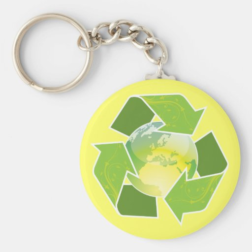 Recycle Earth Magnet, Button & Keychain