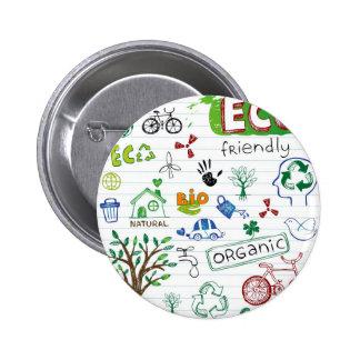 Recycle Eco Friendly 6 Cm Round Badge