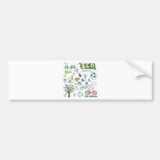 Recycle Eco Friendly Bumper Sticker