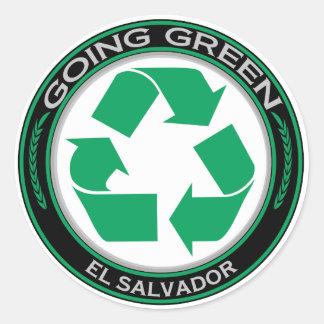 Recycle El Salvador Round Sticker