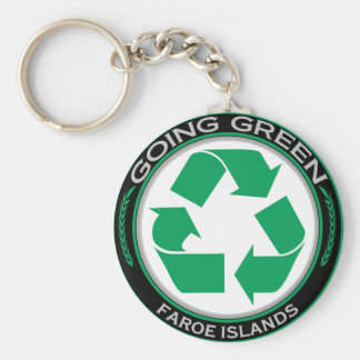 Recycle Faroe Islands Basic Round Button Key Ring