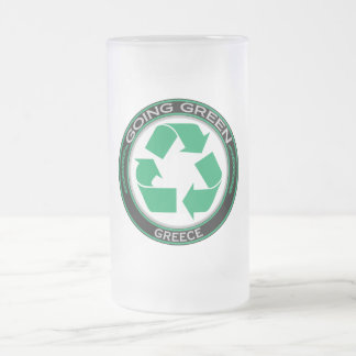 Recycle Greece Frosted Glass Mug
