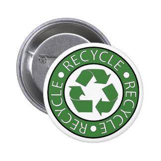 Recycle Green 6 Cm Round Badge
