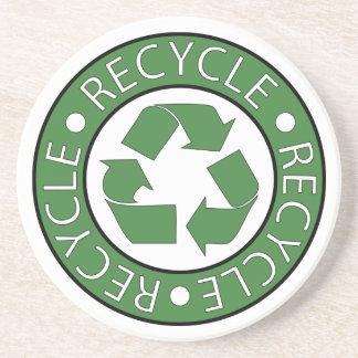 Recycle Green Center Logo Drink Coaster