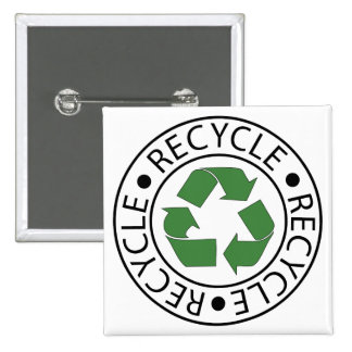 Recycle Green Ceter Logo Pin