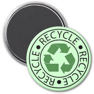 Recycle Green Ceter Logo Magnets
