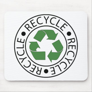 Recycle Green Ceter Logo Mousepad