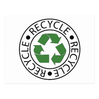 Recycle Green Ceter Logo Postcard
