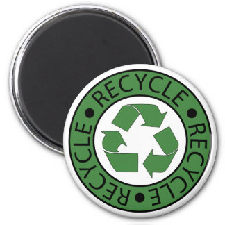 Recycle Green Logo BK Letters Magnets