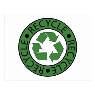 Recycle Green Logo BK Letters Postcard