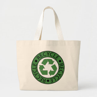 Recycle Green Logo BK Letters Jumbo Tote Bag