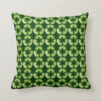 recycle green sign cushion