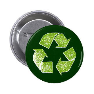 recycle green sign pin