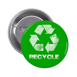 Recycle Green Vintage Button