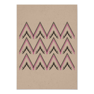 Recycle greeting with zigzag Stripes Card