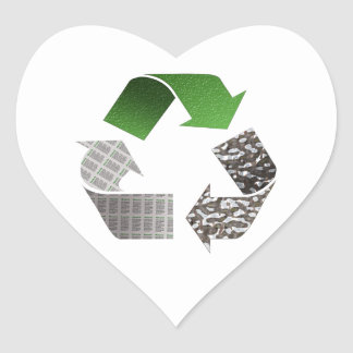 Recycle Heart Sticker