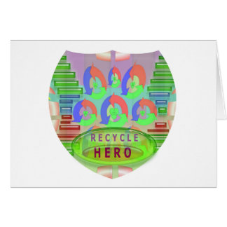 RECYCLE HERO AWARD - Encourage Now Greeting Cards