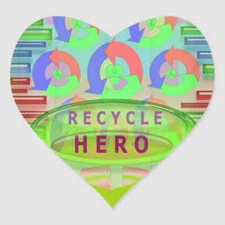 RECYCLE HERO AWARD - Encourage Now Heart Sticker