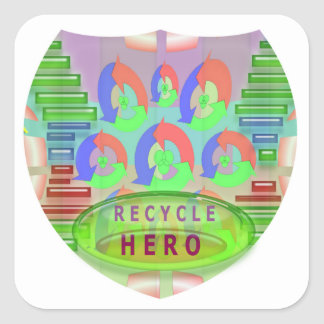 RECYCLE HERO AWARD - Encourage Now Square Sticker
