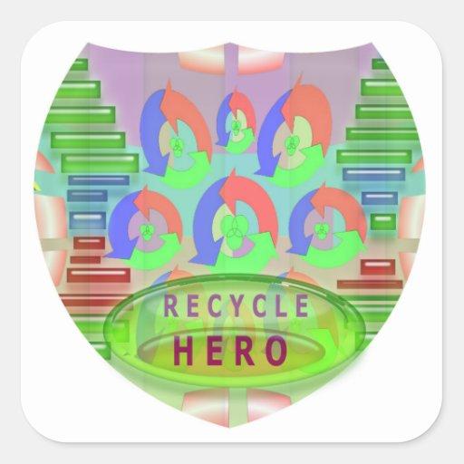 RECYCLE HERO AWARD - Encourage Now Stickers